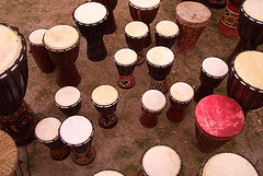 Afrikan drums. Photo: brixn75, Flickr